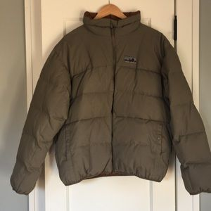 Patagonia Men's Large Puffer Coat Olive New